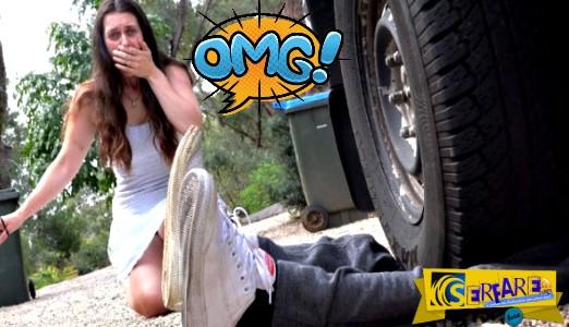 Απίστευτο: Επισκεύαζε το αυτοκίνητο της αδελφής του και εκείνη έβαλε μπροστά και τον πάτησε!