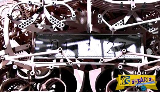 """Γιαπωνέζικο ρολόι που γράφει """"χειρόγραφα"""" την ώρα!"""