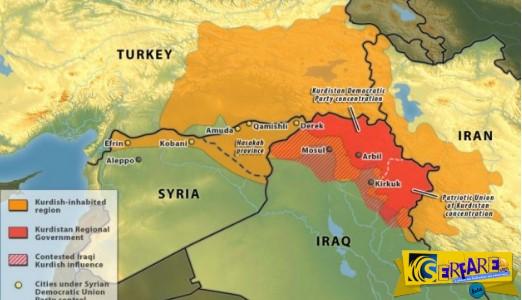 Τα σύνορα του νέου Κουρδιστάν χαράσσουν τώρα τα αμερικανικά μαχητικά!