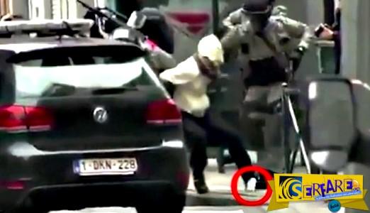 Νέο βίντεο από τη σύλληψη του Σαλάχ Αμπντεσλάμ - Μυστήριο με χαρτάκι του μακελάρη που έπεσε στον δρόμο!