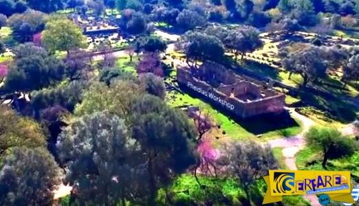 Μαγευτική εικόνα! Η Αρχαία Ολυμπία είναι υπέροχη και από ψηλά