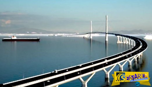 Κατασκευάζουν γέφυρα 24 χιλιομέτρων με υποθαλάσσια σήραγγα και τεχνητά νησιά στην Κίνα!