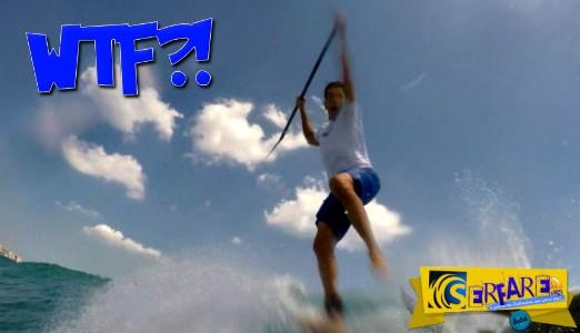 Συγκλονιστικό βίντεο: Εμφανίστηκε καρχαρίας την στιγμή που έκανε surfing!