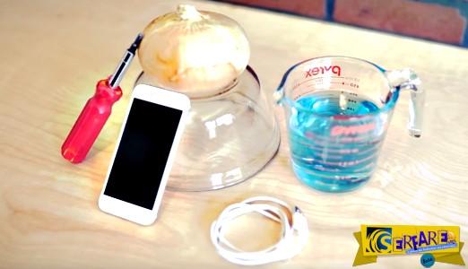 Πως να φορτίσετε το κινητό σας με ηλεκτρολύτες και ένα κρεμμύδι!