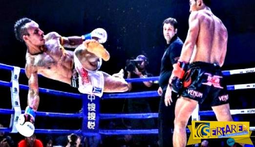 Εντυπωσιακό νοκ-άουτ σε αγώνα Muay Thai!