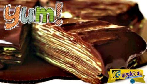 Ξέχνα τις τούρτες που ήξερες μέχρι τώρα: Τούρτα σοκολάτα με κρέπες ...
