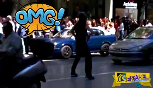 Ερε τρέλα! Διέκοψε την κυκλοφορία στην Τσιμισκή για να… χορέψει!