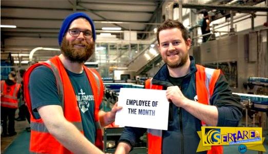 Απέσυραν εξαιτίας μιας πλάκας του 200.000 μπίρες και τον έκαναν υπάλληλο του μήνα!