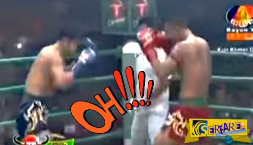 Τρελή κλωτσιά σε αγώνα Muay Thai - Τον ξάπλωσε κάτω και έβλεπε αστεράκια!