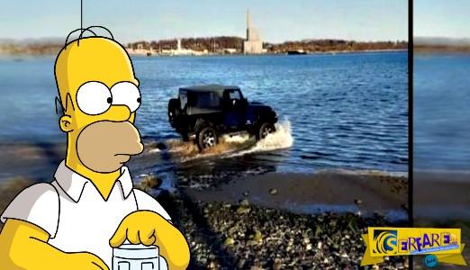 Τύφλα στο μεθύσι μπήκε στη θάλασσα με το αυτοκίνητο του!