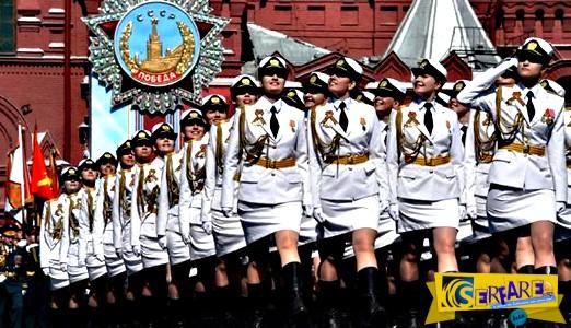 Οι Ρωσίδες στρατιωτίνες στα λευκά έκλεψαν την παράσταση!