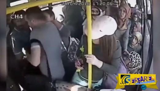 Έδειξε τα γεννητικά του όργανα και τον πλάκωσαν στο ξύλο στο λεωφορείο!