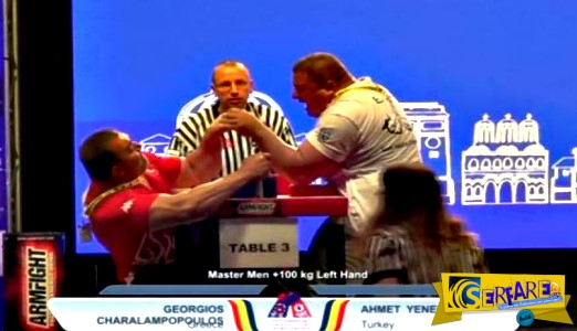 Τα «σπάει» το βίντεο με τον Έλληνα πρωταθλητή στο μπρα-ντε-φερ!