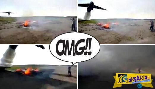 Απίστευτο βίντεο: Πυροσβεστικό αεροπλάνο ρίχνει δέκα χιλιάδες λίτρα νερού πάνω από μικρή φωτιά!