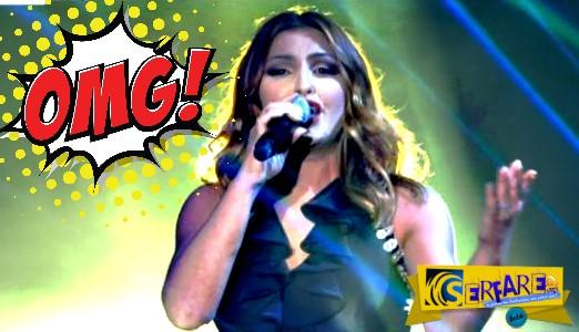 X Factor – Ημιτελικός: Η άτυχη στιγμή της Έλενας Παπαρίζου! Πάτησε το φόρεμά της και…