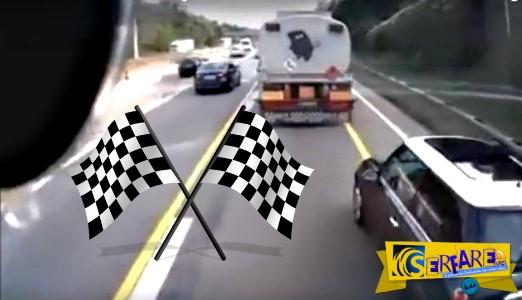 Φορτηγό τα βάζει με MINI και ... κερδίζει!