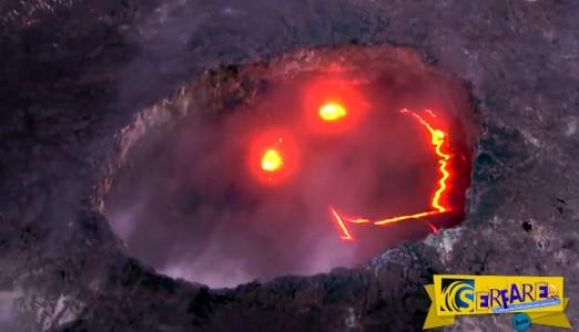 Το ηφαίστειο στη Χαβάη που... χαμογελά!