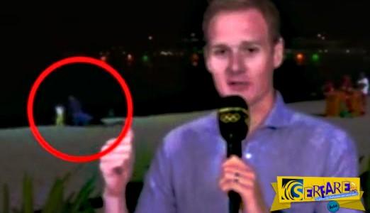 Διέκοψε το ρεπορτάζ για τους Ολυμπιακούς Αγώνες γιατί πίσω του το ζευγάρι…