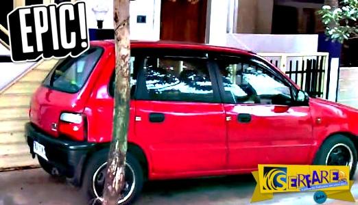 H πιο τρελή θέση πάρκινγκ που σαρώνει στο διαδίκτυο - Δείτε που μπήκε το αυτοκίνητο!