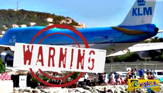 Το αεροπλάνο άνοιξε τις τουρμπίνες για απογείωση και εκτίναξε δεκάδες ανθρώπους στην παραλία!