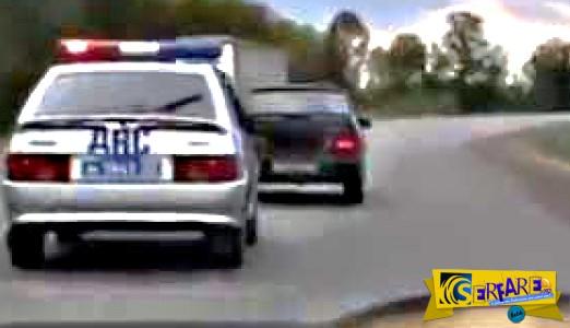 Η τρελή καταδίωξη αυτοκινήτου από περιπολικό – Δείτε τι έκανε ο οδηγός για να ξεφύγει ...