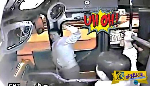 Επιχείρησε να κλέψει την τσάντα μιας γυναίκας μέσα στο λεωφορείο - Αυτό που συνέβη δεν το περίμενε ούτε ο ίδιος!