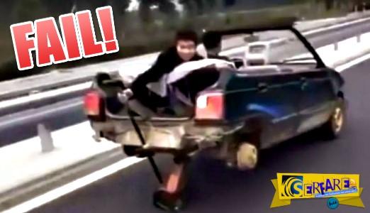 Πρωτότυπος τρόπος οδήγησης χωρίς ... ρόδες!