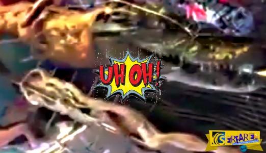 Αυτά μόνο στην Ταϊλάνδη: Φίδι και κροκόδειλος στη...σούβλα!