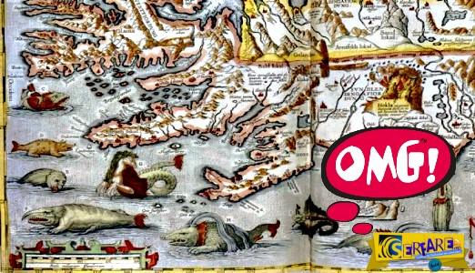 Τα πιο σπάνια μυθικά πλάσματα και «τερατώδη» λάθη που βρίσκει κανείς σε χάρτες της παλιάς εποχής!