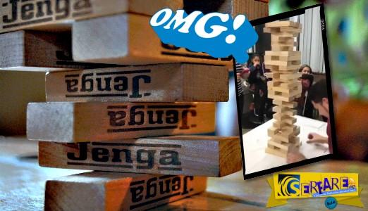 Η πιο απίστευτη κίνηση που έγινε ποτέ στο παιχνίδι Jenga! - Θεότρελλο!