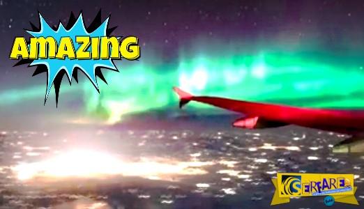 Επιβάτης βιντεοσκόπησε γεωμαγνητική καταιγίδα - Υπέροχο θέαμα!