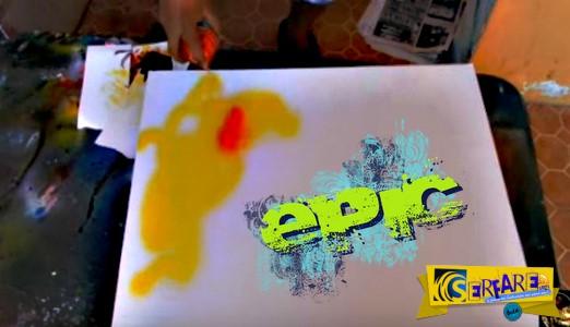 Ξεκίνησε να ζωγραφίζει πάνω στον πίνακα με ένα σπρέι - Το τελικό αποτέλεσμα θα σας αφήσει άφωνους!
