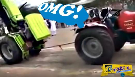 Αυτοί οι Ινδοί πέρασαν τα τρακτέρ για αεροπλάνα! Απίστευτο βίντεο ...