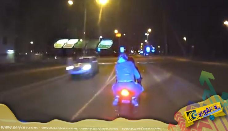 Να πώς σταματάει η Εσθονική Αστυνομία τους μοτοσικλετιστές!