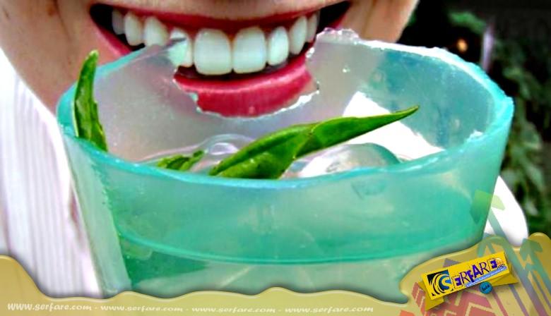 Βρώσιμα ποτήρια βάζουν τέρμα στα πλαστικά σκουπίδια!