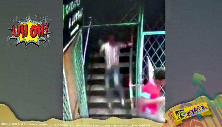 Ανεξήγητο φαινόμενο στη Μαλαισία - Φάντασμα τους ρίχνει από τη σκάλα!