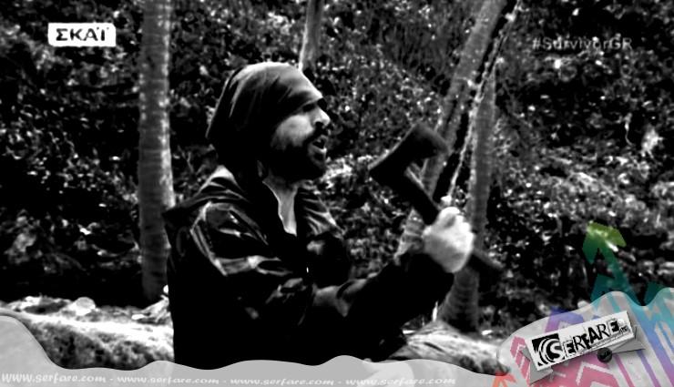 "#SurvivorGR Σπαλιάρας: Θα ""κλάψετε"" με το ραπάρισμα του! - «Ο σφάχτης της καρύδας…»"