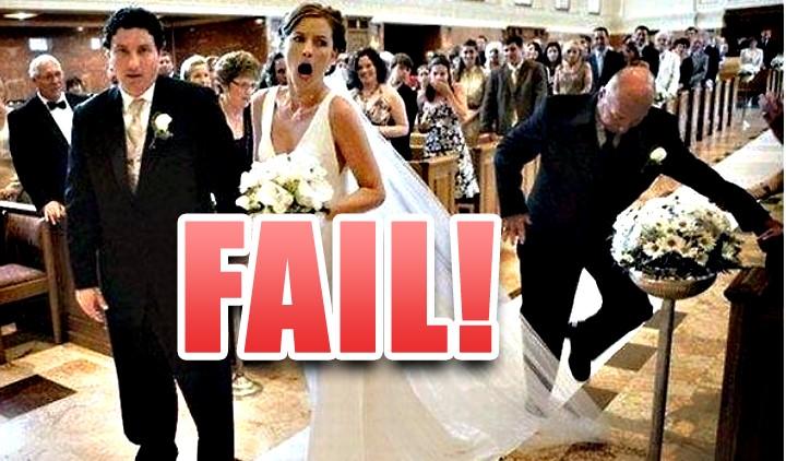 Δέκα επικά απρόοπτα σε γάμους σε ένα βίντεο!