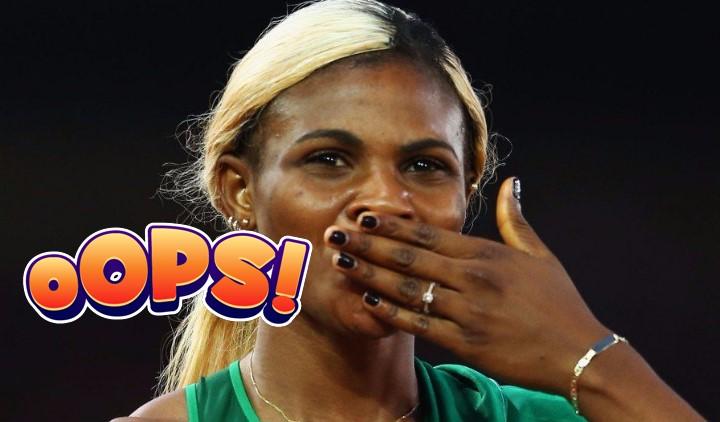 Αυτή η Νιγηριανή αθλήτρια έχασε την... περούκα της στο άλμα εις μήκος!