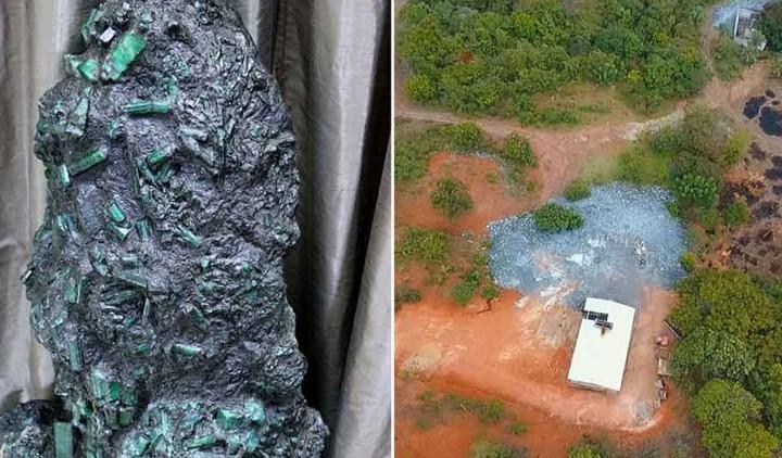 Βραζιλιάνος ξέθαψε γιγάντιο σμαραγδένιο βράχο 360 κιλών και αξίας 300 εκατομμυρίων ευρώ!