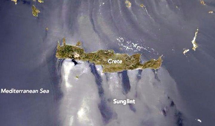 Το φαινόμενο sunlight στο Αιγαίο κατέγραψε η NASA