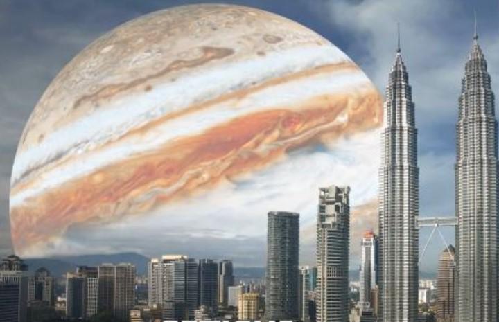 Πώς θα ήταν ο ουρανός αν αντί φεγγάρι βλέπαμε διάφορους πλανήτες