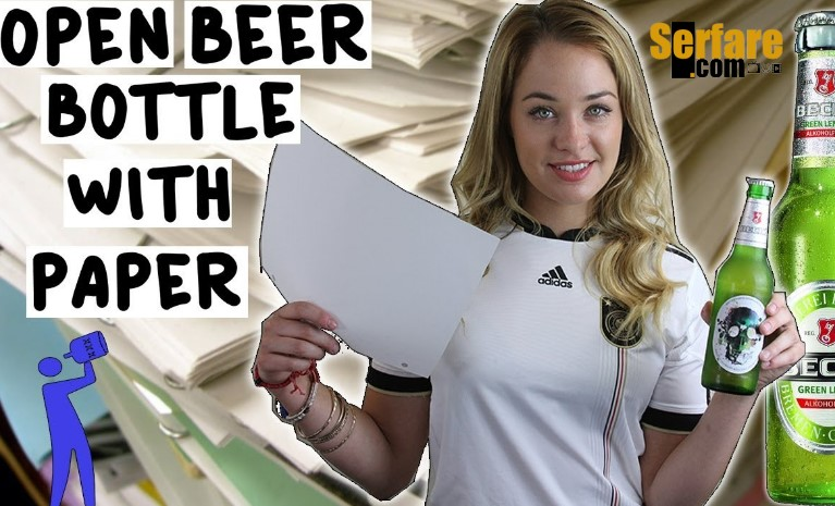 Ήξερες ότι μπορείς ανοίξεις μια μπύρα με ένα κομμάτι χαρτί;