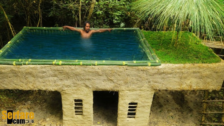 Κατασκευάζοντας μια πισίνα από μπαμπού